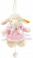 click to see Steiff  Sweet Dreams Lamb Music Box (pink) in detail