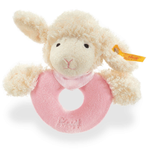 click to see Steiff  Sweet Dreams Lamb Grip Toy in detail
