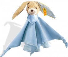 click to see Steiff  Hoppel Rabbit Comforter Teddy Bear in detail