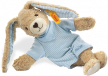click to see Steiff  Blue Hoppel Rabbit Teddy Bear in detail
