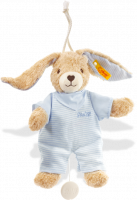 click to see Steiff  Hoppel Rabbit Music Box Teddy Bear in detail