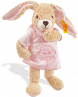 click to see Steiff  Hoppel Rabbit (pink) in detail