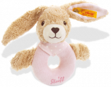 click to see Steiff  Bear Hoppel Rabbit Grip Toy in detail