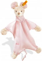 click to see Steiff  Sniffy Mouse Comforter (pale Pink) in detail