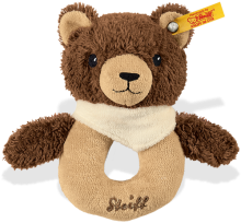 click to see Steiff  Teddy Basti Bear Grip Toy in detail