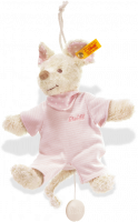 click to see Steiff  Sniffy Mouse (pale Pink) Music Box in detail