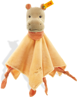 click to see Steiff  Mockyli Hippo Comforter In Apricot in detail
