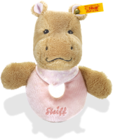 click to see Steiff  Mockyli Hippo Grip Toy With Rattle in detail