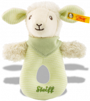 click to see Steiff  Lenny Lamb Grip With Rattle in detail