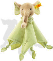 click to see Steiff  Trampli Elephant (green) in detail