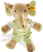 click to see Steiff  Trampili Elephant (green) in detail