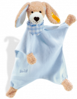 click to see Steiff  Good Night Dog Comforter (blue) in detail