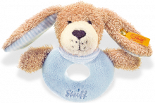 click to see Steiff  Good Night Dog Grip Toy in detail
