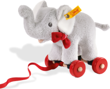 click to see Steiff  Pull-along Trampili Elephant in detail