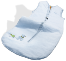 click to see Steiff  Little Circus Blue Sleeping Bag in detail