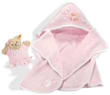click to see Steiff  Sleep Well Bear Pink Bath Set in detail