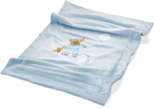 click to see Steiff  Sleep Well Blue Cuddly Blanket in detail