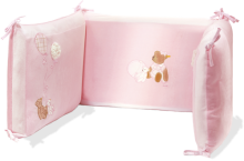 click to see Steiff  Pink Cot Bumper - Lovely Addition For A Nursery in detail