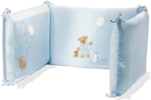 click to see Steiff  Blue Cot Bumper in detail