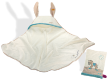 click to see Steiff  Issy Donkey Bath Set Consisting Of Towel And Mitt in detail