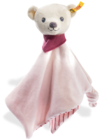 click to see Steiff  Kunuffi Teddy Bear Comforter in detail