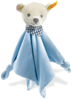 click to see Steiff  Knuffi Teddy Bear Comforter in detail