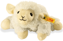 click to see Steiff  Floppy Lamb Heat Cushion in detail
