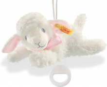 click to see Steiff  Bear Sweet Dreams Lamb Music Box in detail