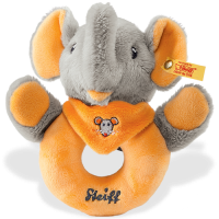 click to see Steiff  Trampili Elephant Griptoy in detail