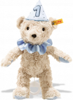 click to see Steiff  First Birthday Boy Teddy Bear With Musical Box in detail