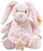 click to see Steiff  Cuddly Belly Rabbit Musical Box in detail