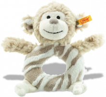 click to see Steiff  Cuddly Bingo Monkey Grip in detail