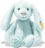 click to see Steiff  My First Hoppie Rabbit In Light Blue in detail