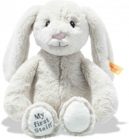 click to see Steiff  My First Hoppie Rabbit In Cream in detail