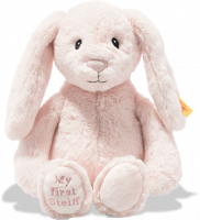 click to see Steiff  My First Hoppie Rabbit In Pink in detail