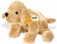 click to see Steiff  Little Floppy Lumpi Golden Retriever in detail