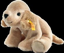 click to see Steiff  Floppy Lumpi Golden Retriever in detail