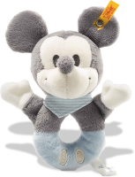 click to see Steiff  Mickey Mouse Grip Toy With Rattle in detail