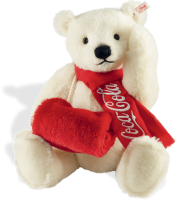 click to see Steiff  Coca-cola Polar Teddy Bear in detail