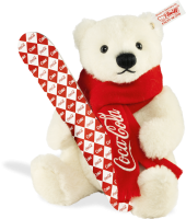 click to see Steiff  Coca-cola Snowboard Bear in detail