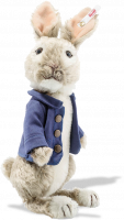 click to see Steiff  Peter Rabbit With Smart Blue Jacket To Keep Him Warm! in detail