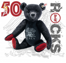 click to see Steiff 50th Anniversary Queen Rock Band Bear in detail
