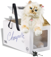 click to see Steiff Birman Choupette Cat Loved By Famous Designer Karl Lagerfeld in detail