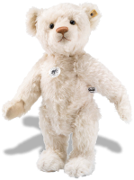 click to see Steiff  1906 Replica 40cm Bear In Gentle White Mohair in detail