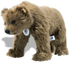 click to see Steiff  Shaggy Bear Replica 1914 in detail