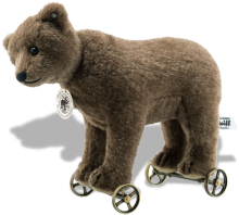 click to see Steiff Bear On Wheels Replica 1904 in detail