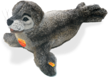 click to see Steiff  Studio Grey Seal in detail