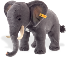 click to see Steiff  Grey Studio Elephant in detail