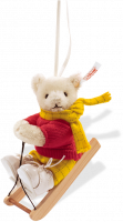click to see Steiff  Rupert Bear Ornament in detail