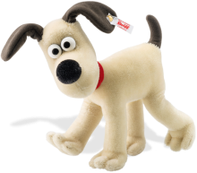 click to see Steiff  Gromit - A Famous Collectible Dog! Give With Love! in detail